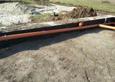 Подготовка канализации под заливку пола 2 вариант