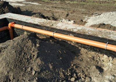 Подготовка канализации под заливку пола 3 вариант