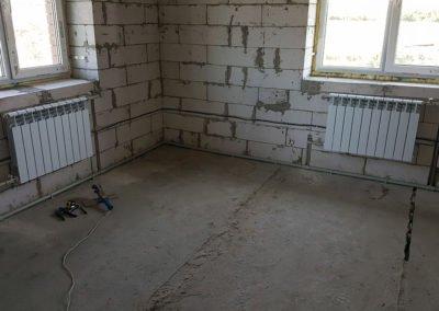 Монтаж радиатора отопления 1