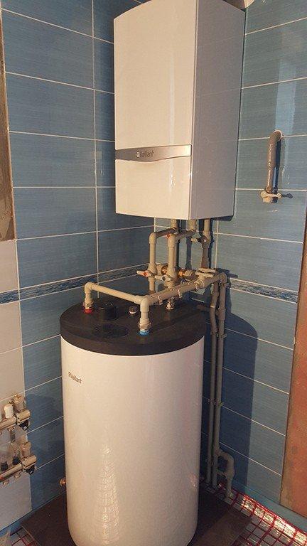 montazh vodjanogo bollera 1 - Монтаж газовых котлов